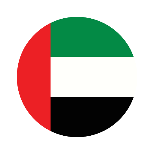 asia, circle, country, flag, nation, national, uae icon