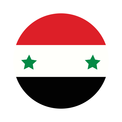 asia, circle, country, flag, nation, national, syria icon