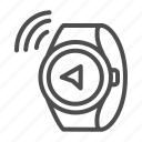 watch, map, compass, navigation, pointer, wave, wireless