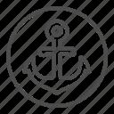 anchor, nautical, marine, ship, vessel