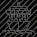 cruise, travel, ship, ocean, wave, transport, vessel