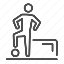 soccer, player, football, ball, human, gate