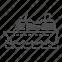 cruise, ship, travel, sea, transport, vessel