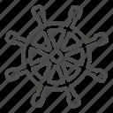 ship, wheel, helm, boat, steering, round, vessel