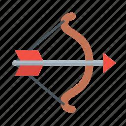 aim, archery, arrow, battle, bow, shoot, weapon icon