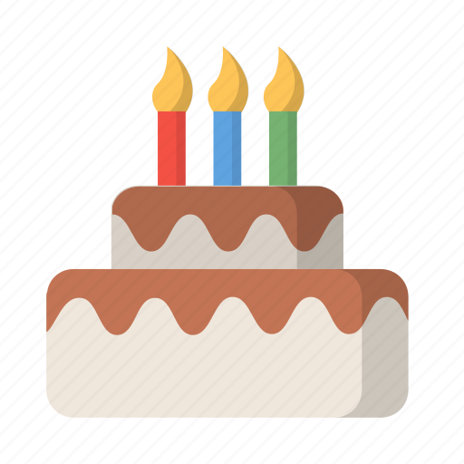 Birthday Cake Candles Celebration Dessert Party Icon