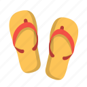 beach, fashion, flipflops, footwear, sandals, shoes, vacation icon