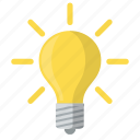 bright, creative, electricity, energy, idea, light, lightbulb icon