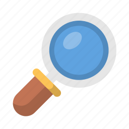 find, glass, magnifying, scan, search, view, zoom icon