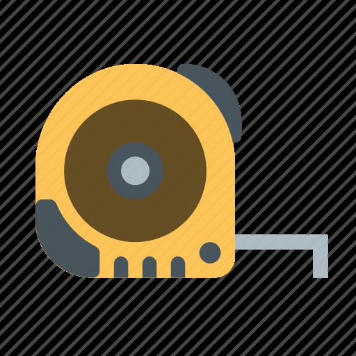 distance, length, measure, measurement, measuring, tape, tool icon