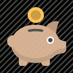 bank, money, piggy, piggybank, retirement, save, savings icon