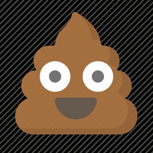 crap, emoji, face, feces, poo, poop, shit icon
