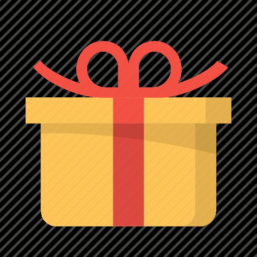 birthday, christmas, gift, present, wrapped, xmas icon