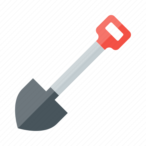break ground, dig, gardening, shovel, spade, tool, work icon