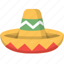 culture, fiesta, hat, hispanic, mexican, mexico, sombrero icon