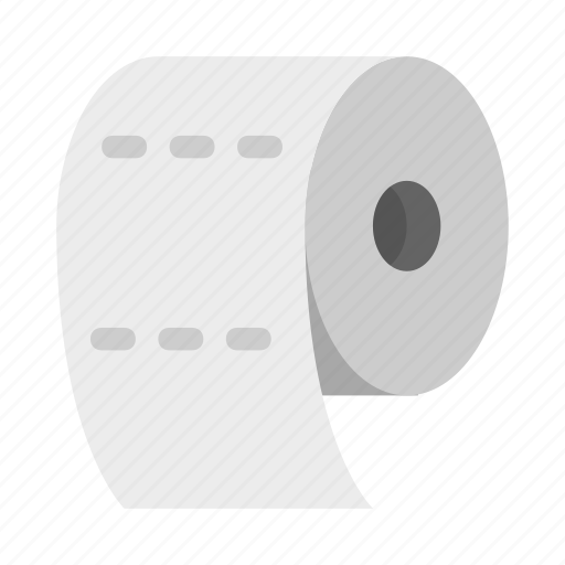 bathroom, restroom, roll, tissue, toiletpaper icon