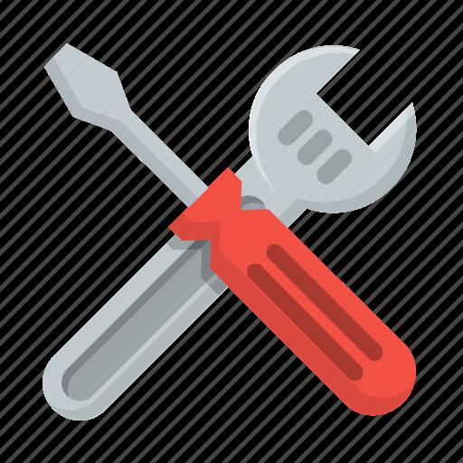 constuction, equipment, fix, gear, repair, tools, work icon