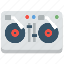 club, dj, music, nightclub, party, turntable, turntables icon