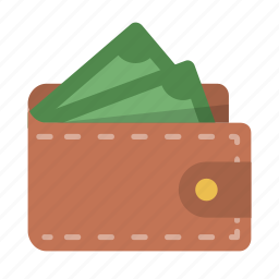 billfold, cash, cashflow, money, pay, payment, wallet icon