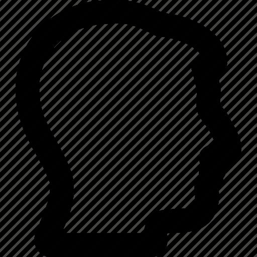 account, head profile, human, man, person, silhouette, user icon