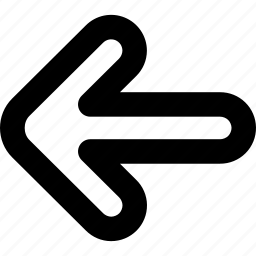 back, direction, history, left arrow, move, previous, undo icon