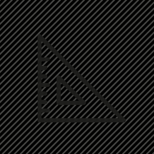 measurement, set, square, square ruler, yuluck icon