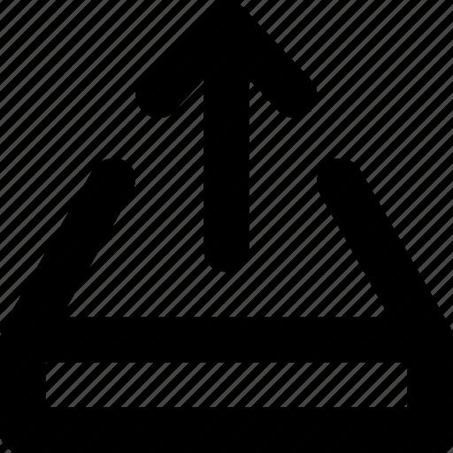 arrow, ui, up, upload, upward icon