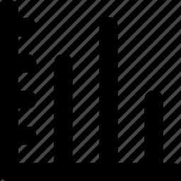 bar chart, bar graph, bars, data, statistics icon