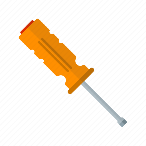 construction, equipment, industrial, screwdriver, screwdrivers, small, work icon