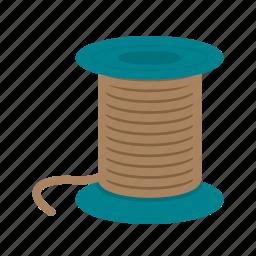 blue, bobbin, needle, sewing, spool, thread, threads icon
