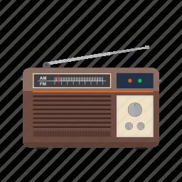 old, radio, speaker, station, style, tuner, white icon