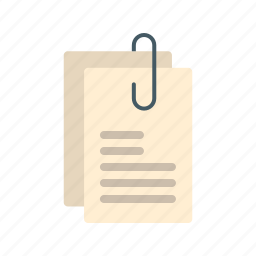 appointment, attachments, document, message, note, office, paper icon