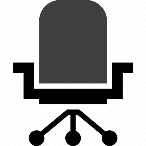 chair, furniture, object, office, rollers icon