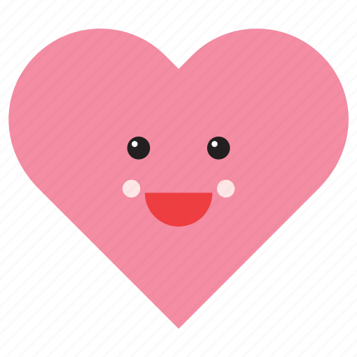 emoji, emoticon, happy, heart, love, shape, smiley icon