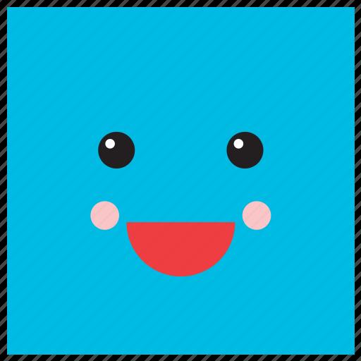 Emoji Emoticon Face Geometric Shape Smiley Square Icon
