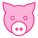 face, pig, piggy icon