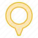 direction, gps, location, marker, pin, pointer icon