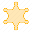 army, award, badge, medal, military, police icon