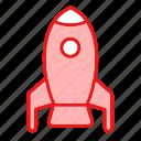 pocket, rocket, seo, socket, spaceship icon