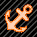 anchor, equipment, marine, nautical, tool, tools icon