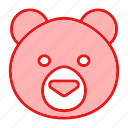 animal, bear, cute, face, teddy, toy icon