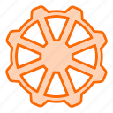 automobile, cogwheel, settings, steering, vehicle, wheel icon