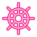 drive, ship, shipping, steering, transport icon