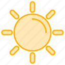 beach, forecast, nature, summer, sun, weather icon