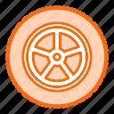 car, cog, gear, settings, tire, wheel icon
