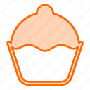 bakery, birthday, cake, cream, cupcake icon