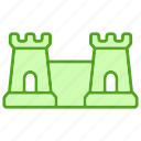 building, castle, cattle, fortress, medieval, tower icon