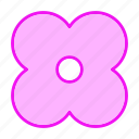 abstract, blossom, plant, spring icon