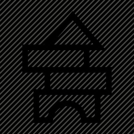 block, blocks, building, object, toy icon