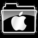 apple, folder, logo